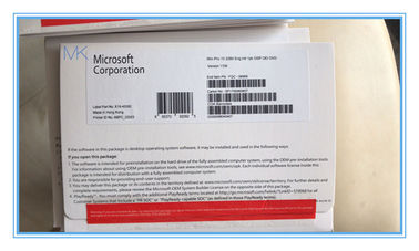 MS Windows 10 Pro OEM Key 32 Bit PC Disc Platform With Security Code